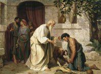 Oração do perdão. Filho pródigo pede perdão a seu pai